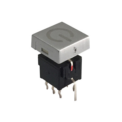 DPDT PCB Latch Push Button Switch With LED Illuminated
