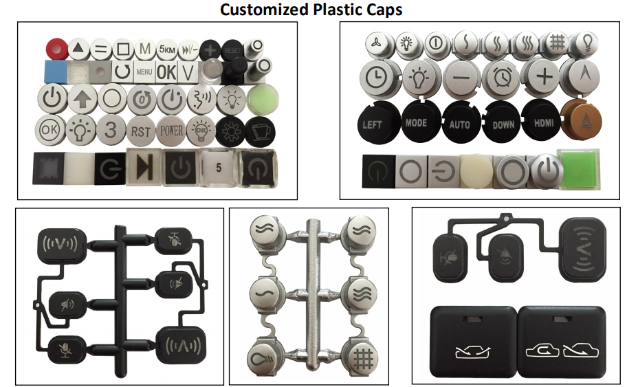 Injection Plastic Button Caps Engraved Symbol(图1)