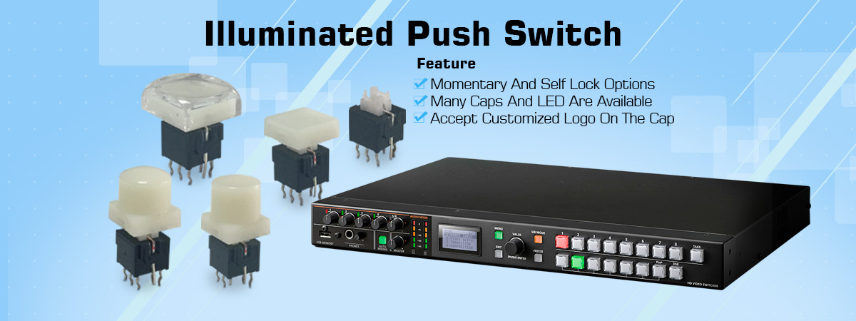 latching led push button switch